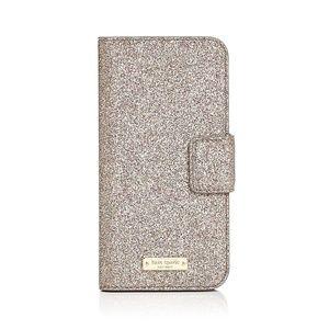 Kate Spade Glitter iPhone 7 8 case cover NWT